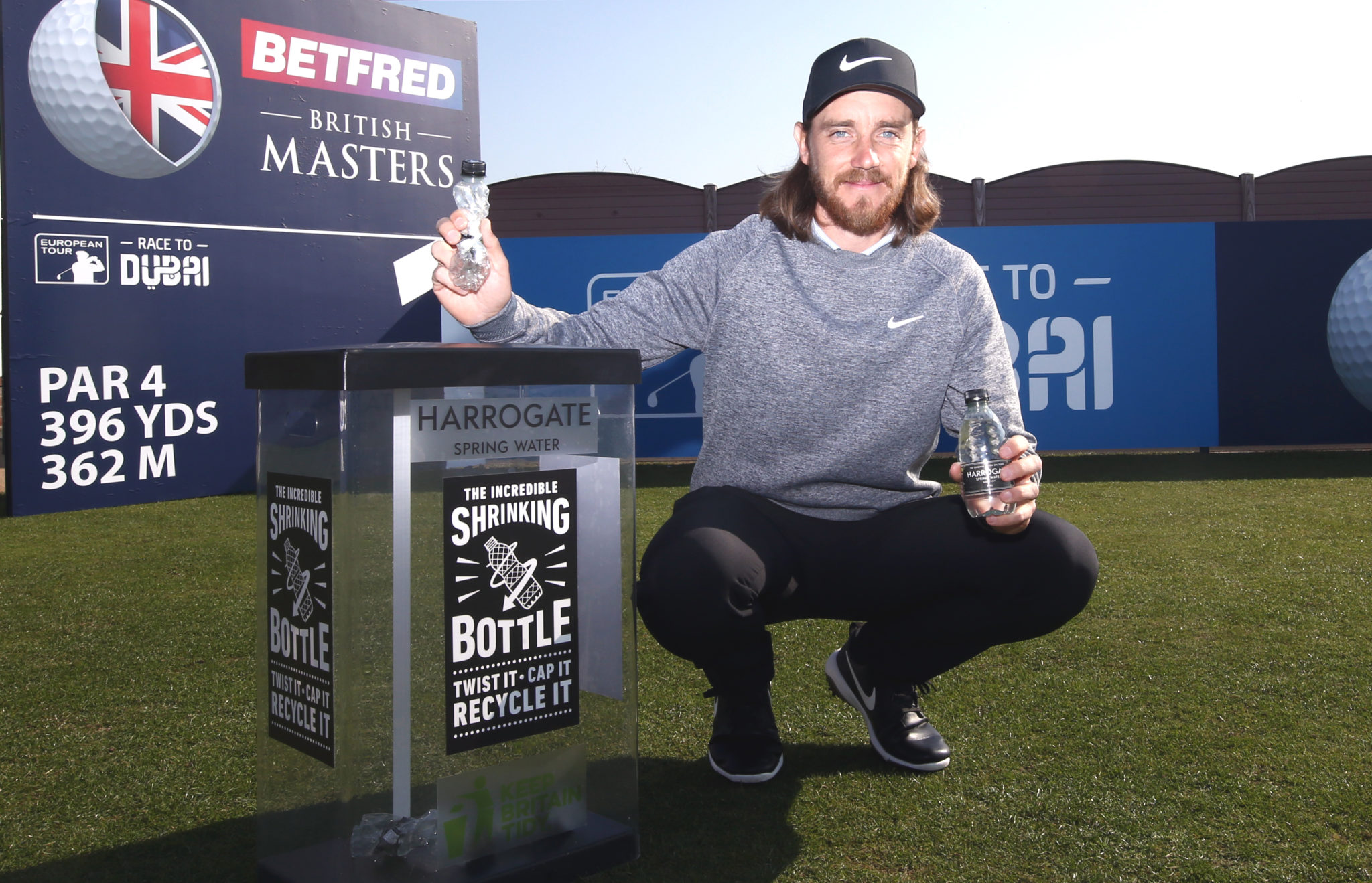 Tommy Fleetwood showing sustainability at the British Masters