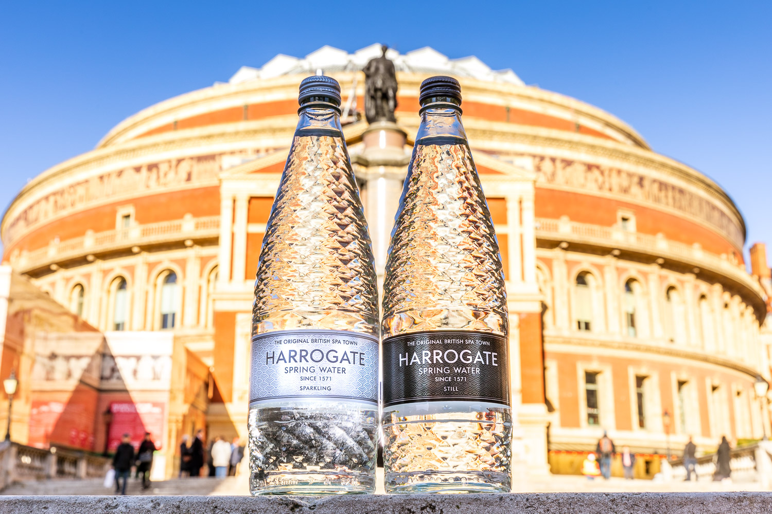 Harrogate Water in front of Royal Albert Hall