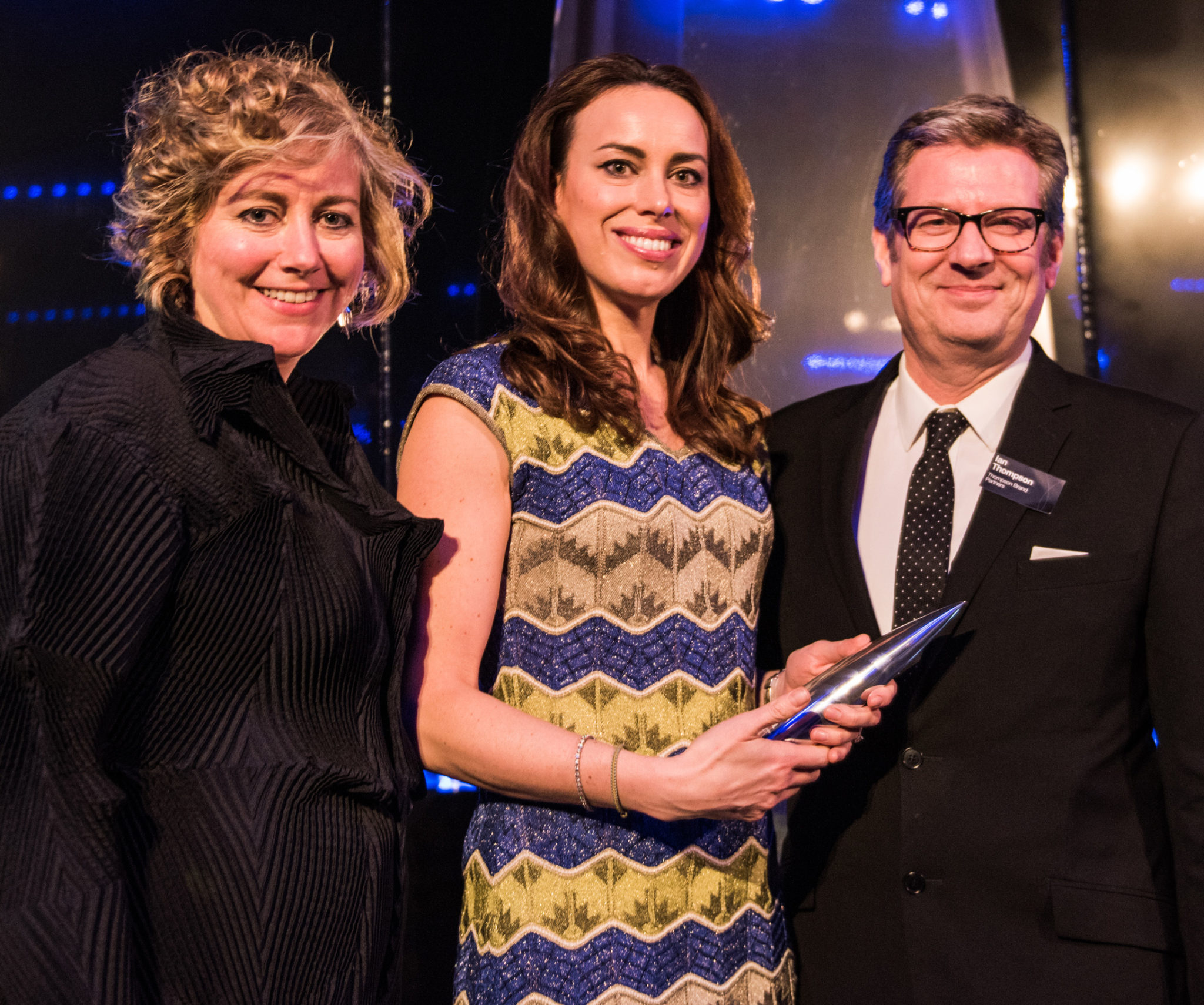 Nicky Cain, centre, at the 2017 DBA Awards