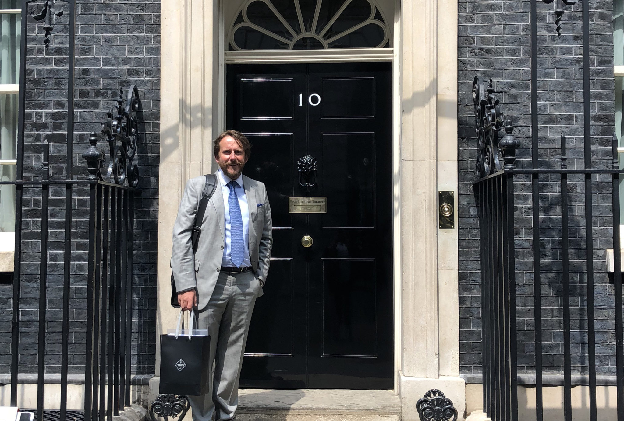 CEO James Cain at 10 Downing Street