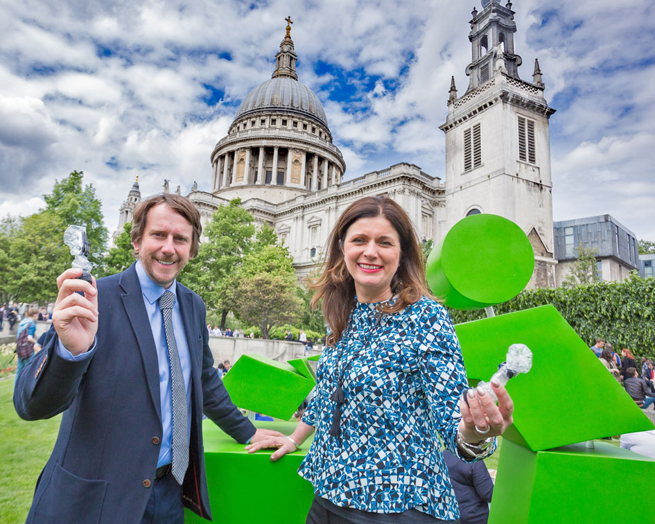James Cain launches Incredible Shrinking Bottle campaign with Keep Britain Tidy
