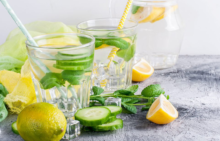 infused water recipe with cucumber and lemon