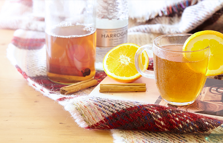 infused water recipe with cinnamon and orange