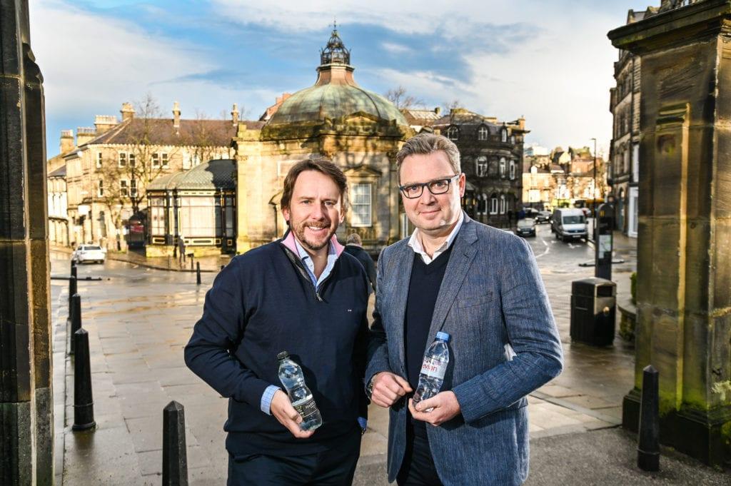 Danone and Harrogate Water bosses in Harrogate