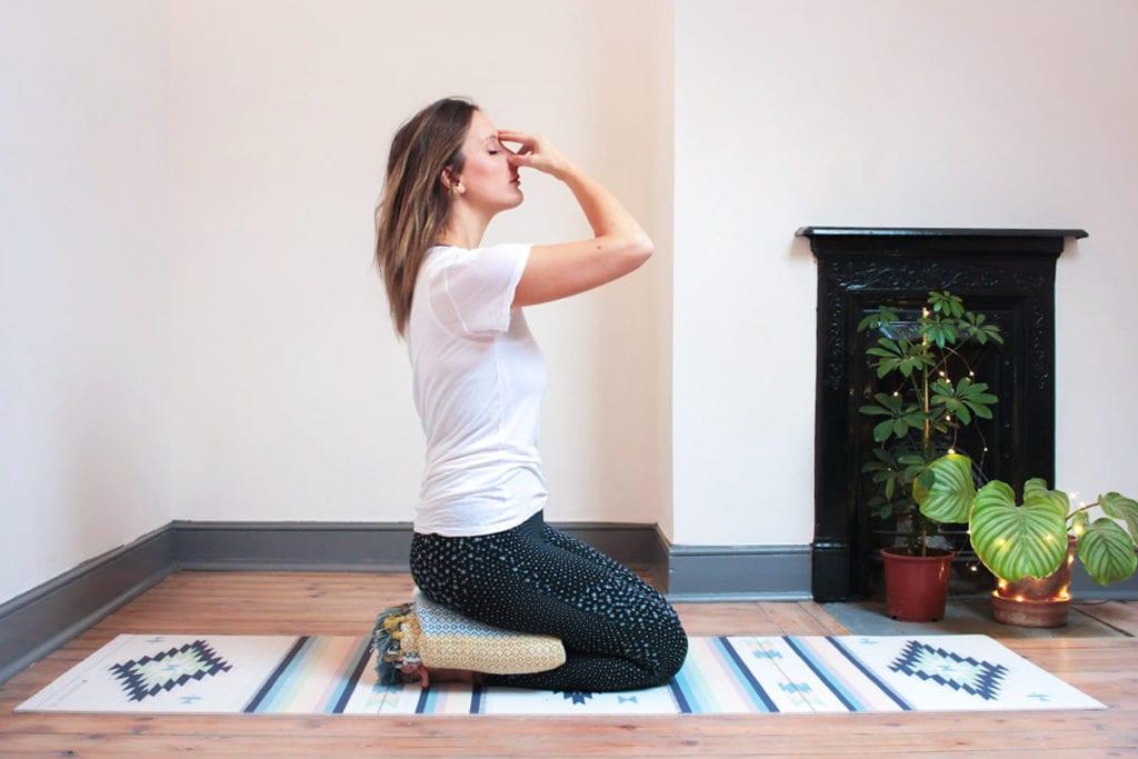Nadi-Shodhana yoga pose